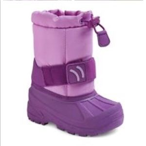 Cat & Jack Thermolite Purple Snow Boots 5/6